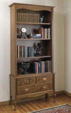 Heirloom bookcase Woodworking Plan from WOOD Magazine $14.95 downloadable plans $17.95 mail direct printed plans