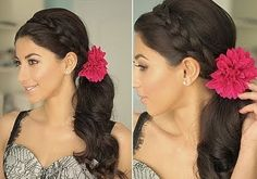 Side Ponytail with Braid Hairstyles | 30 Wonderful Side Ponytail Hairstyles | CreativeFan