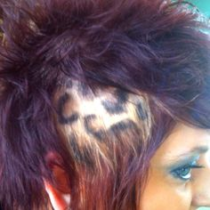 Leopard print hair! <3 Done by me:)