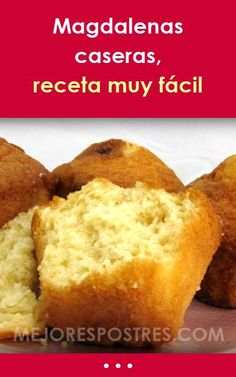 Magdalenas caseras, receta muy fácil Cookie Recipes, Snack Recipes, Snacks, Desert Recipes, Carrot Cake, Cornbread, Tapas, Cupcake Cakes, Deserts