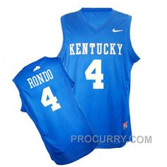 9e4289da450 NCAA Kentucky Wildcats  4 Rajon Rondo Authentic Blue Jersey