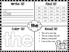 Fry Words Sight Words:  Fry first 100 words printables designed to help students learn them easily and quickly! $