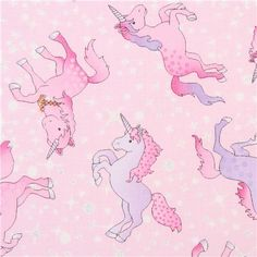 pink unicorn fabric avec des paillettes Timeless Treasures USA 2