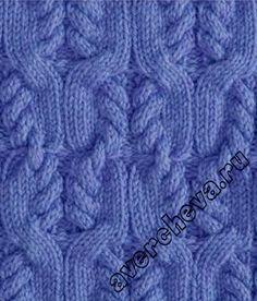 Vzor č. 141 – Kaleidoskop vzorů pro ruční pletení Cable Knitting Patterns, Knitting Stiches, Lace Knitting, Knit Patterns, Crochet Stitches, Stitch Patterns, Knit Crochet, Avercheva Ru, Little Stitch