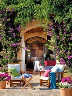 Amenajare provensală într-o casă de vacanță din Menorca