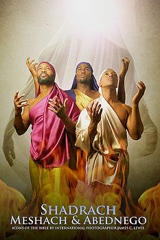 """Shadrach, Meshach & Abednego ~ Noire Icons of the Bible by James C. Lewis, International Photographer ~ """"How might Biblical characters really look? Blacks In The Bible, Black Art Pictures, Black Jesus Pictures, Beautiful Pictures, Religion, Biblical Art, Afro Art, Black Women Art, Bible Art"""