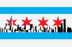 im from chicago and wanted a new flag for us.this is the result chicago flag Chicago Skyline Tattoo, Chicago Tattoo, Chicago Buildings, Chicago Bars, My Canvas, Sticker Design, I Tattoo, Tatoos, How To Look Better