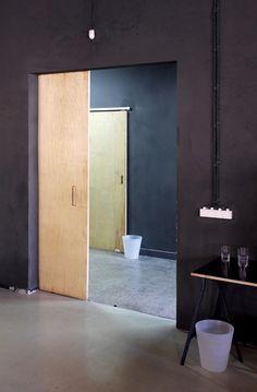 + wooden slide door -