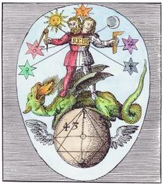 When the alchemist speaks of Mercurius, on the face of it he means quicksilver (mercury), but inwardly he means the world-creating spirit concealed or imprisoned in matter. The dragon is probably the oldest pictorial symbol in alchemy of which we have documentary evidence. It appears as the Ouroboros, the tail-eater, in the Codex Marcianus, which dates from the tenth or eleventh century, together with the legend 'the One, the All'.