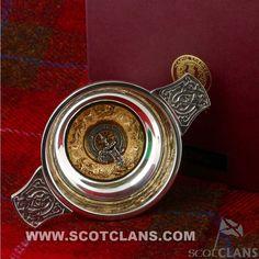 Dalziel Clan Crest Quaich