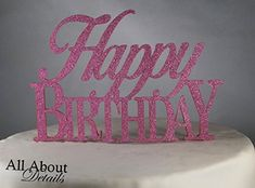 All About Details Pink Happy-birthday Cake Topper *** Discover this special deal, click the image : Baking supplies