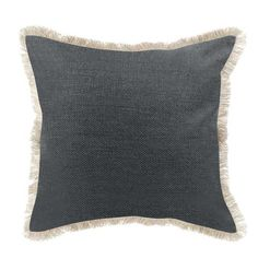 Graphite Jenna Jute Cushion - Create a relaxed casual style look the Jenna Cushion. Featuring a textured look they are ideal for a paired back beach house vibe. Size: 45 x 45 cm. Only $49 and free Shipping For All Deliveries Within Australia