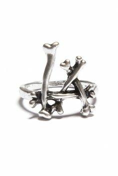 Brandy ♥ Melville | LA Bones Ring - Jewelry - Accessories