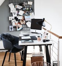 Grey Home Office - Roomed
