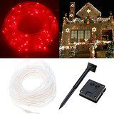 SZMINILED Chirstmas Lights 33ft 100LEDs Solar Rope Lights Red for Holiday Wedding Party Christmas Decoration christmas deals week