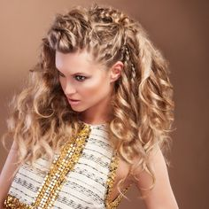 bohemian curly hairstyles - Google Search