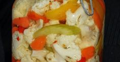 Giardiniera de Lou (Delinquencies and flavors) - Cuisine - Raw Food Recipes Canning Recipes, Raw Food Recipes, Healthy Recipes, One Pot Pasta, Marinade Sauce, Vegetable Salad, Chutney, Food To Make, Food And Drink