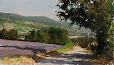 daily painting titled Route de lavande by Julian Merrow-Smith