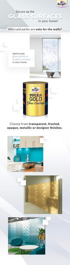 Here's how you can up the class of glass surfaces.