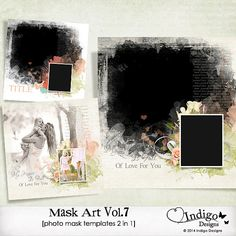MaskArt Template 2in1 Vol.7 - Digital Scrapbook Template with Photo Mask, D007