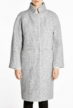 Love this: Grey Melange Poodle Teddy Long Coat @Lyst