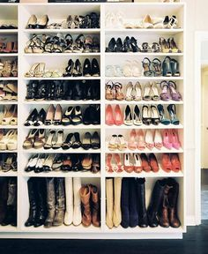 Bookcases As Shoe Racks Would Work Great In A Walk In Closet Or Along A  Bedroom Or Dressing Room Wall As A Shoe Closet; Could Use Curtains To  Conceal And To ...