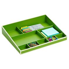 Semikolon Autumn Desktop Organizer Collection -- this tray comes in several colors and fits inside the document box to hold desktop tools in the office