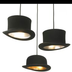 Top hat DIY lamp shades - would love this in a window shop display!