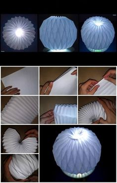 How to Make Accordion Ball Paper Folding Origami Decoration DIY Paper Lanterns Paper lanterns come i Origami Ball, Diy Origami, Origami Lampshade, Paper Lampshade, Useful Origami, Origami Tutorial, Origami Paper, Origami Instructions, Diy Tutorial