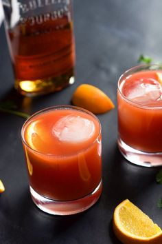 This Blood Orange Bourbon Sunrise is a sweet and sour cocktail that is spiced with smooth bourbon, fresh blood orange juice and a touch of honey!