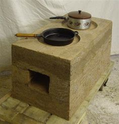 Rammed earth stoves in Rwanda