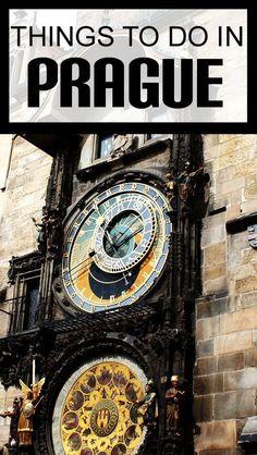 Things to do in Prague Czech Republic. Traveling to Prague. Prague Bucket List.