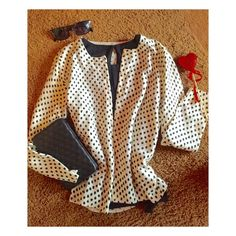 J.Crew Polka Dot Cardigan Perfect polka dot cardigan in cream and black, think strolling the streets of Paris! 100% merino wool by J. Crew. Excellent, flawless condition. 4th photo is not exact item but great styling idea! J. Crew Sweaters Cardigans