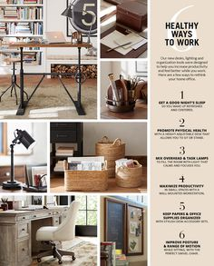 Attractive Healthy Ways To Work Home Office Organization, Organized Office, Organizing  Ideas, Organisation,