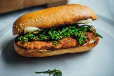 Chicken Milanese Hero With Broccoli Rabe and Provolone