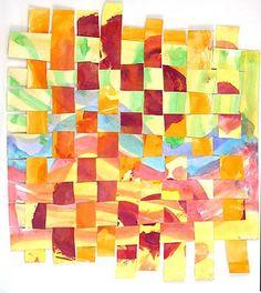 4th grade watercolor weaving