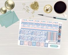 Pinning so I don't forget!! Remember to go back and check out Crafted By Corley on Etsy. Rose Quartz and Serenity - Transform My Planner Erin Condren Horizontal Life Planner Sticker Sticker Set Weekly View Sticker Horizontal by CraftedByCorley