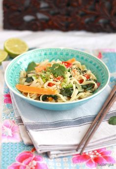 Green Curry Egg Noodles // Eiernudeln in grünem Curry