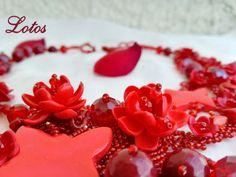 Esclusivo fiore rosso elegante collana di cristallo di agat