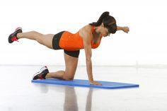 Desde dos apoyos, flexiona y extiende la pierna