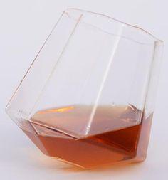 Diamond Shaped Whiskey Glass (Set of Two)