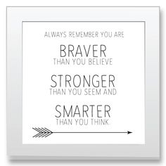 You are Braver Nursery Print
