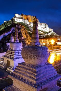 Potala Palace in Lhasa, Tibet. The Potala Palace was the chief residence of the Dalai Lama until the 14th Dalai Lama fled to India during the 1959 Tibetan uprising against Communist China.