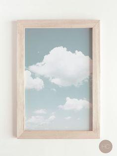 Black Wall Decor, Home Decor Wall Art, Cloud Art, Room Makeovers, Blue Clouds, Tropical Art, Online Printing Services, Landscape Prints, Contemporary Artwork