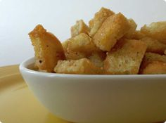 Check out this Homemade Croutons Recipe you can Make with the leftover bread.