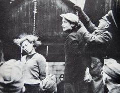 Hanging of Ukraine partisans, by the Nazi's
