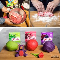 JELL-O Play Dough #recipe: Got kids? You gotta try this recipe for homemade play clay. It works with any flavour of Jell-O Jelly powder -- and smells great too!