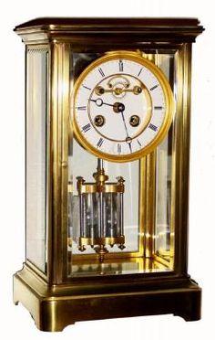 Antique Clock Crystal Regulator