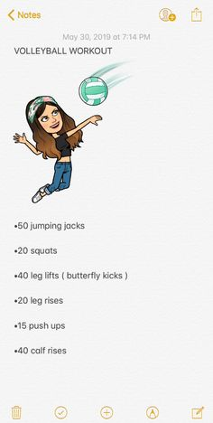 Best Picture For Volleyball Workouts vertical For Your Taste You are looking for something, and it i Volleyball Tryouts, Softball Workouts, Volleyball Skills, Volleyball Practice, Volleyball Training, Cheer Workouts, Volleyball Outfits, Volleyball Hair, Summer Body Workouts