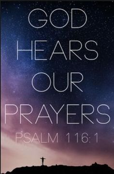 God hears our prayers. The eyes of the Lord are on the righteous and his ears are attentive to their cry. Psalm To You must vows be fulfilled, You who hear prayers. Inspirational Bible Quotes, Biblical Quotes, Prayer Quotes, Bible Verses Quotes, Bible Scriptures, Spiritual Quotes, Faith Quotes, Praise God Quotes, Bible Prayers